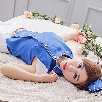 角色扮演服甜心空姐裝 藍白甜美空姐制服cosplay服裝空姐服 流行E線