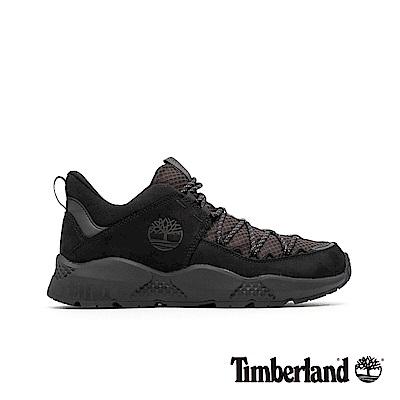 Timberland 男款NNH夜黑色全粒面革網格拼接球鞋|A1UZ8