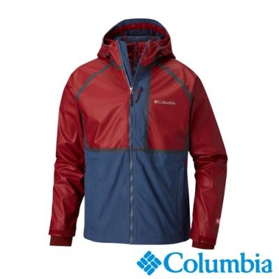 Columbia 哥倫比亞 男款-Outdry-OT防水鋁點保暖兩件式化纖外套紅藍