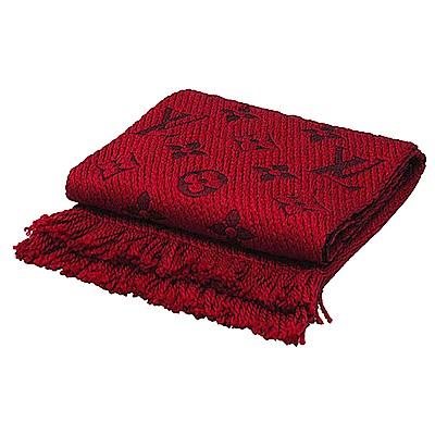 LV M72432 Monogram LOGO 羊毛針織圍巾 紅色