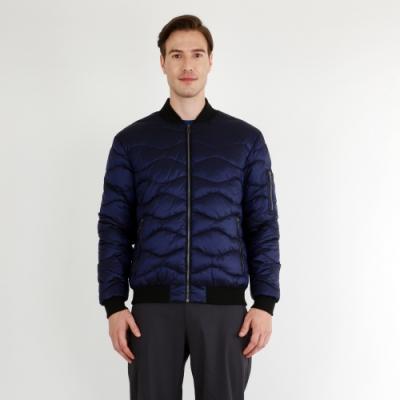 【HAKERS 哈克士】男 防潑水保暖外套(普魯士藍)