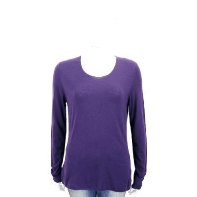 Andre Maurice 喀什米爾葡萄紫素色羊毛衫