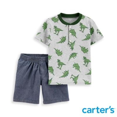 【carter's】 恐龍純棉衣褲兩件組(2T-5T) 任選 (台灣總代理)