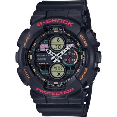CASIO 卡西歐 G-SHOCK 90年代音響概念手錶(GA-140-1A4)