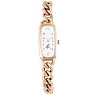 agnes b. 30週年紀念時尚手錶(BV2003X1)-白X玫瑰金/15mm