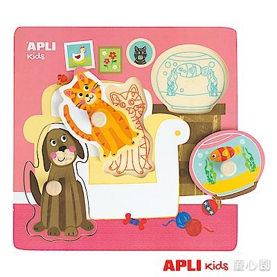 西班牙APLI 動物握鈕拼圖 - 寵物(2Y+)