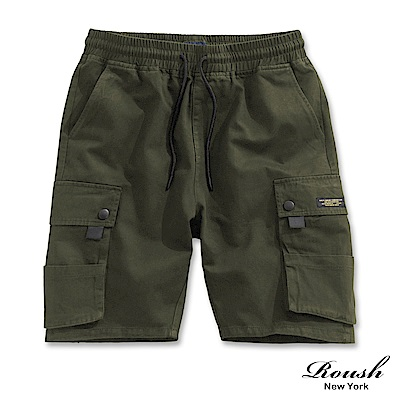Roush 多口袋重磅水洗工裝短褲(2色)