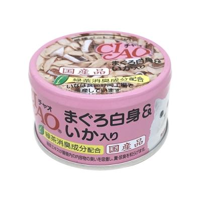 日本 CIAO 旨定罐 A-03 鮪魚&魷魚 85g