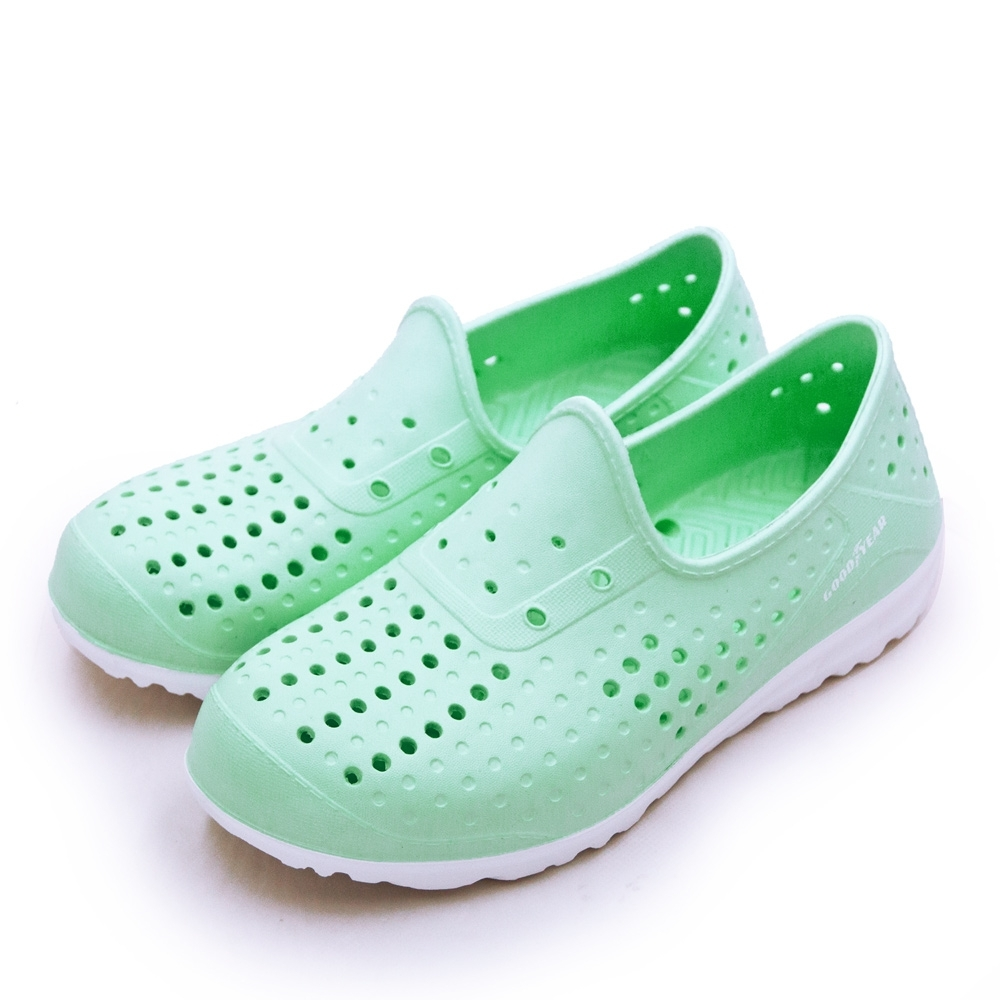 GOODYEAR 排水透氣輕便水陸多功能休閒洞洞鞋 粉嫩綠 92705