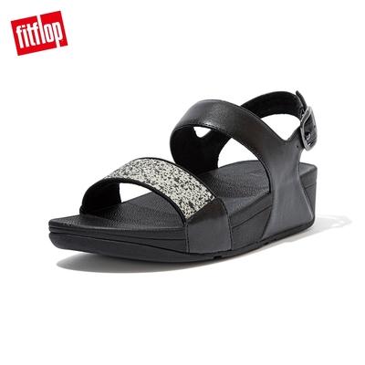 FitFlop LULU GLITTER SPLASH BACK-STRAP SANDALS潑墨亮粉後帶涼鞋 -女(黑色)