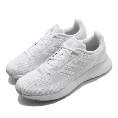 adidas 慢跑鞋 RunFalcon 2 女鞋 愛迪達 三線 基本款 路跑 上學 白 銀 FY9621