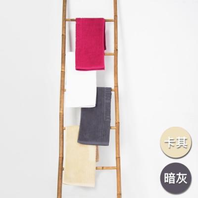 Yvonne Collection 毛巾浴室地墊2入(50x80cm)-卡其+暗灰