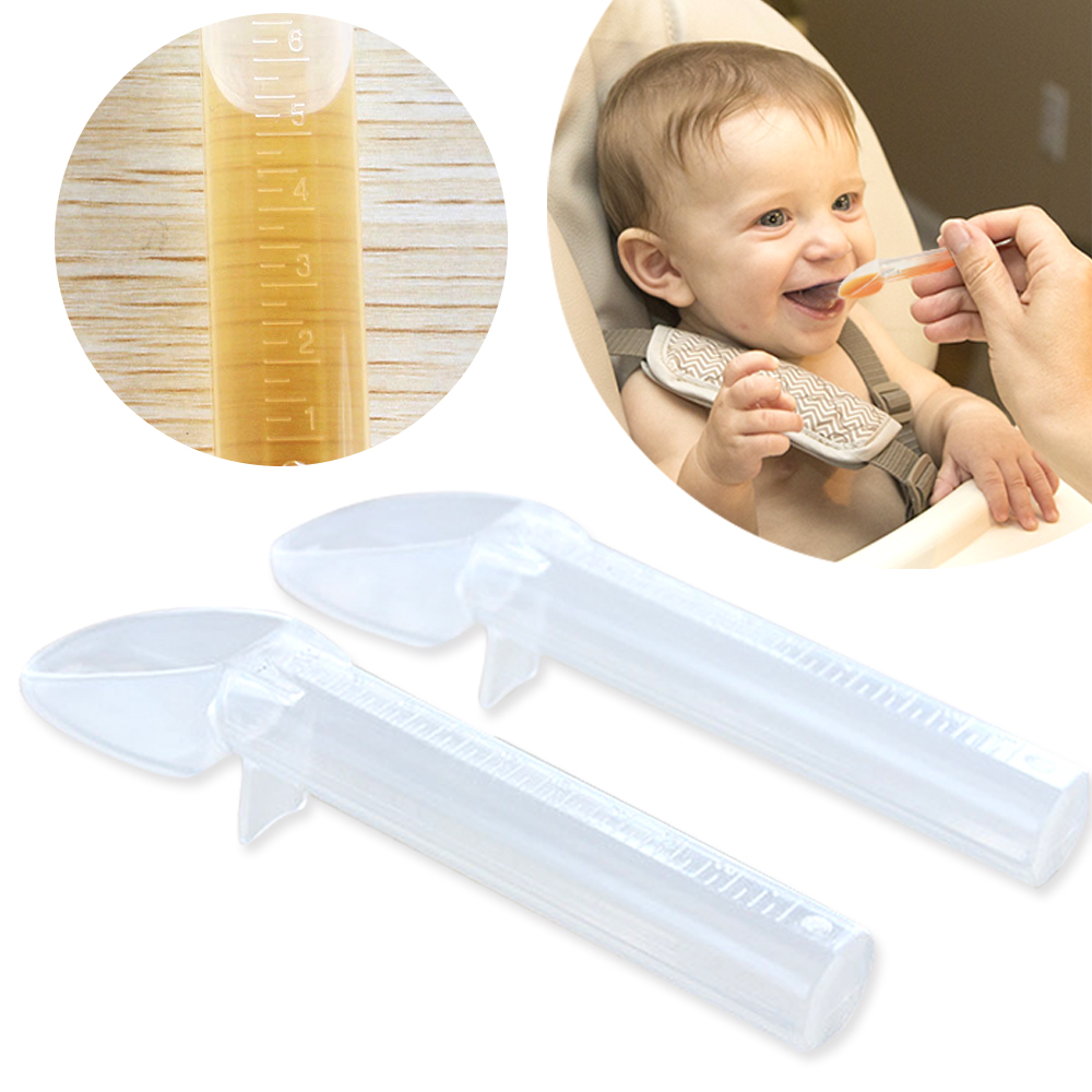 兒童嬰幼兒 副食品 刻度 液體 計量器 二合一量匙-超值2入kiret