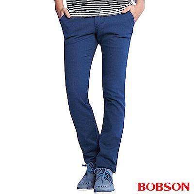 BOBSON 男款低腰彈性直筒褲