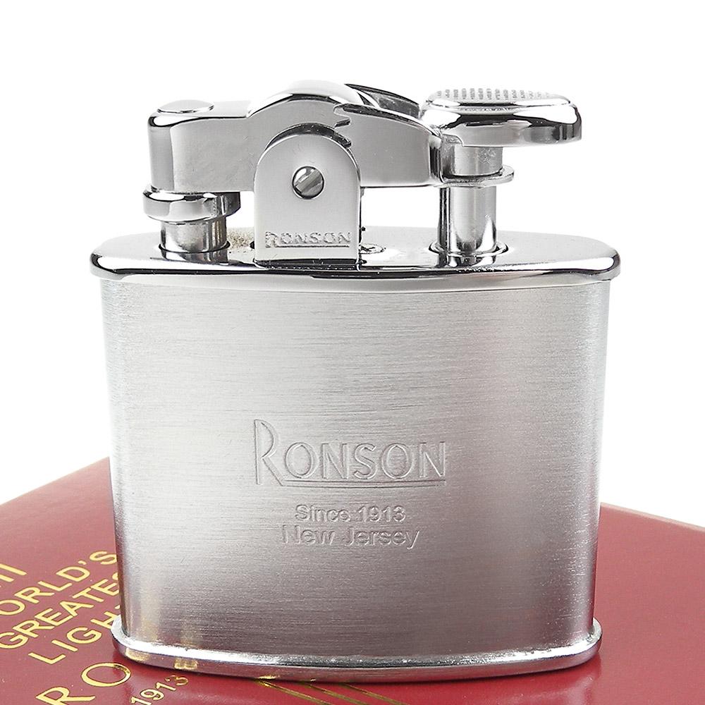 RONSON Standard系列-燃油打火機-緞銀款