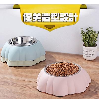 寵愛有家-寵物南瓜不鏽鋼創意食用碗(寵物用碗)