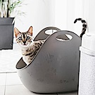 LitterBox 360° 主子貓砂籃 高邊加大型貓砂盆 灰色