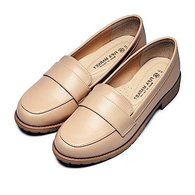 BuyGlasses 典雅英倫風氣質樂福鞋-杏
