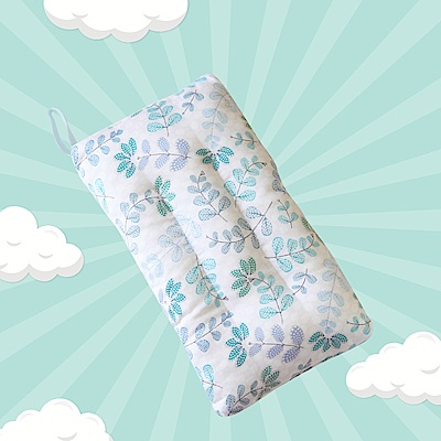 A-ONE 100%天絲 可水洗兒童枕/午睡枕/靠枕 一枕三用-綠植
