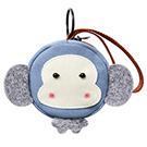 A+ accessories 三色補丁-多樂猴萌物童趣鑰匙零錢多用途小包
