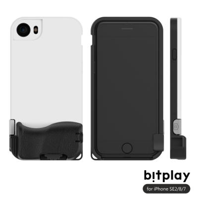 bitplay SNAP! iPhone SE2/8/7 (4.7吋)專用 喀擦一鍵即拍相機快門鍵全包覆防摔相機殼-簡約白
