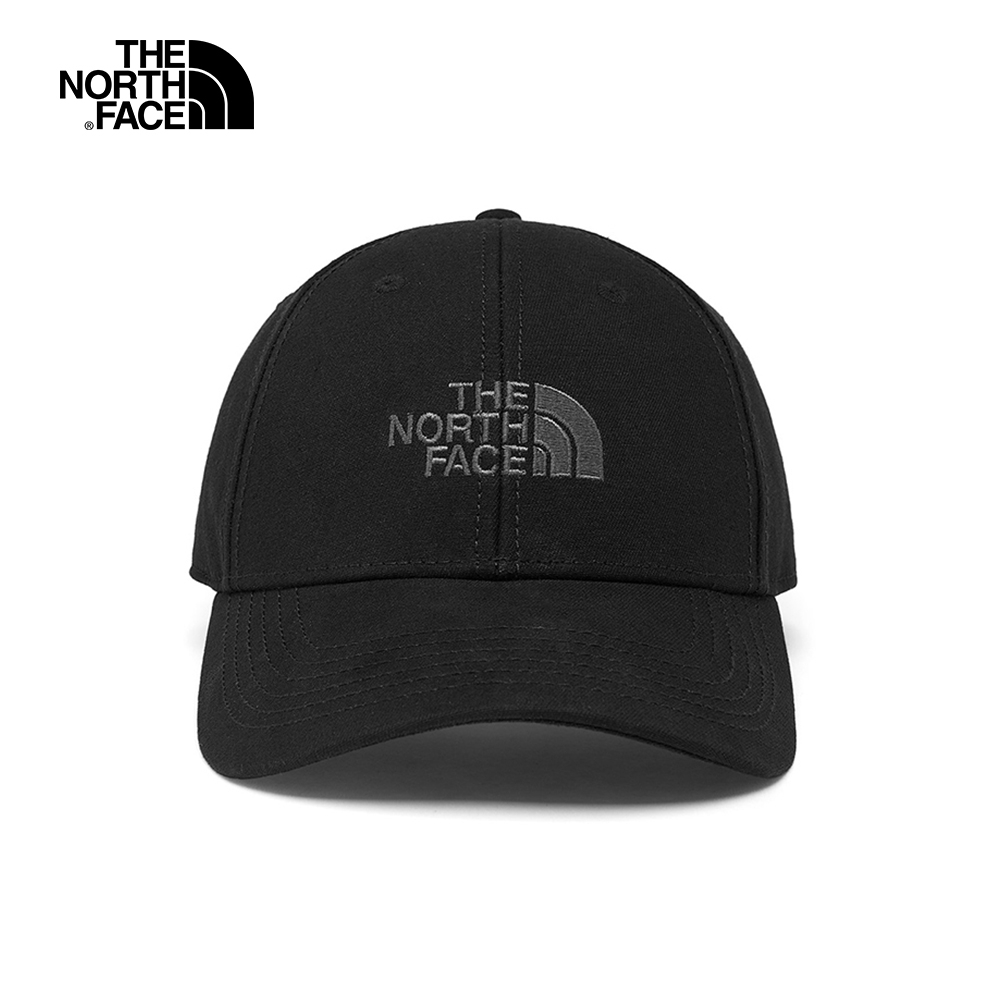 The North Face北面男女款黑色透氣運動帽|CF8CJK3