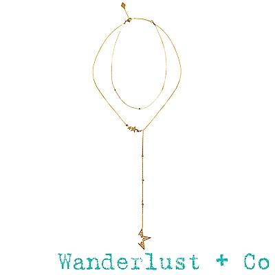 Wanderlust+Co新星套頸項鍊 - 金色