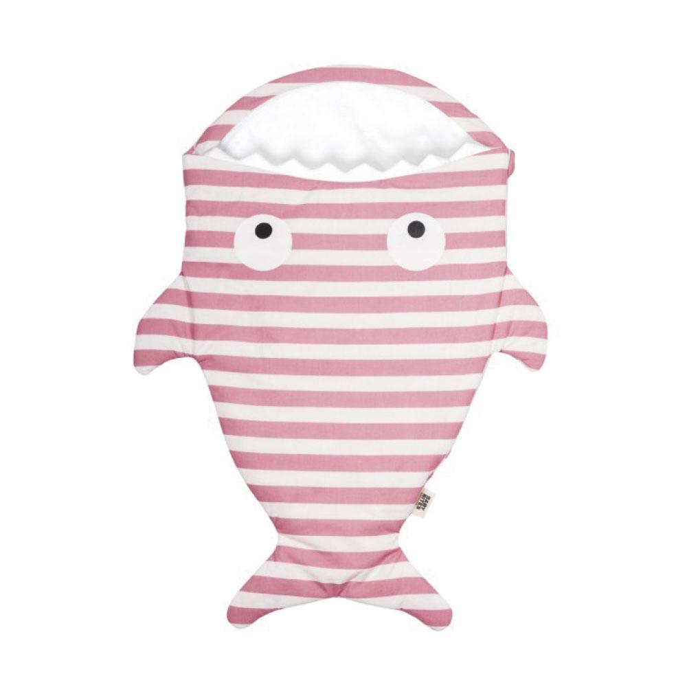 【嬰幼兒輕量版-水手粉條紋】BabyBites西班牙鯊魚咬一口睡袋