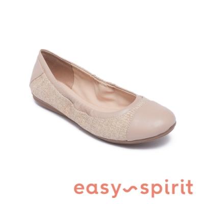 Easy Spirit-seGESSICA10 百搭舒適輕便鬆緊娃娃鞋-米杏色