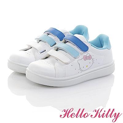 HelloKitty 親子小白鞋 -輕量抗菌防臭減壓休閒童鞋-白水