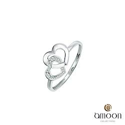 amoon 浪漫艾菲爾系列 相伴 K金鑽石戒指
