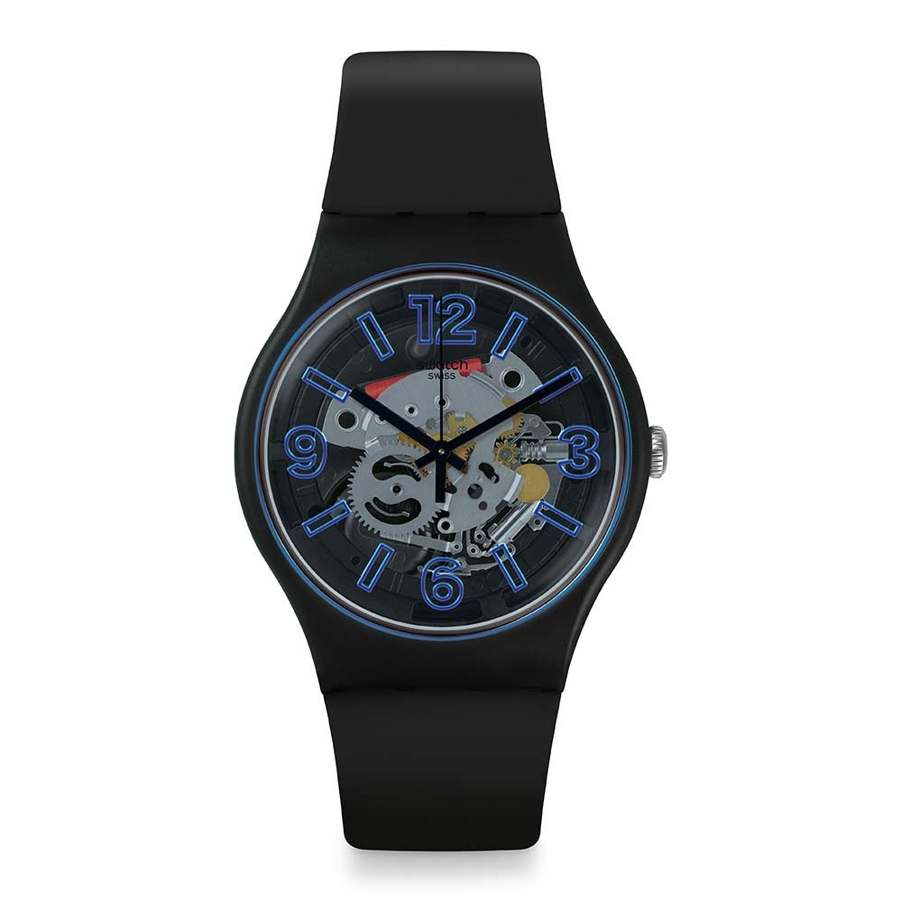 Swatch Bau 包浩斯系列手錶 BLUEBOOST 就是搶眼-藍-41mm