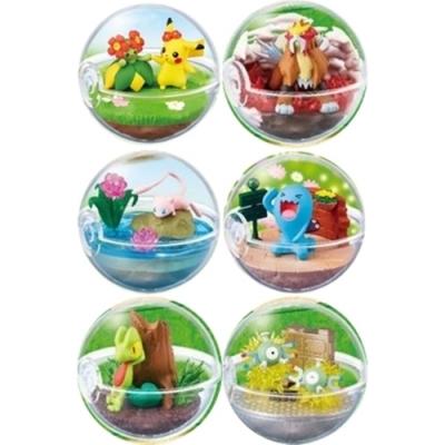 日本RE-MENT精靈寶可夢盆景神奇寶貝球盆盒玩具P6全6種4521121204772(皮卡丘美麗花炎帝夢幻果然翁木守宫小磁怪)