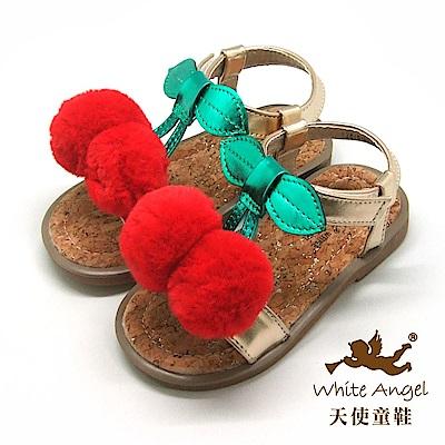 天使童鞋 俏皮櫻桃小丸子涼鞋 F2878 金