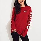 HCO Hollister 海鷗 經典刺繡大海鷗文字長袖T恤(女)-紅色