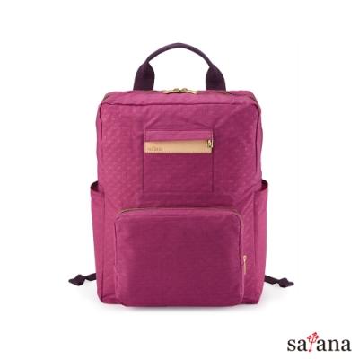 satana - Soldier 極簡折疊後背包 - 霧紫紅