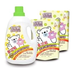 Benibear邦尼熊多功能檸檬小蘇打洗衣精2000mlx1瓶+1800mlx4包/箱x2