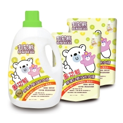 Benibear邦尼熊多功能檸檬小蘇打洗衣精2000mlx1瓶+1800mlx4包/箱
