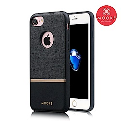 Mooke iPhone 7 /8  尊爵Nappa保護殼-經典黑