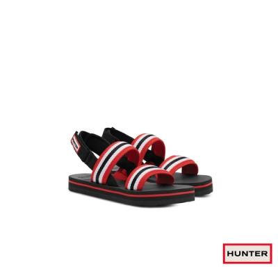 HUNTER - 女鞋-海灘綁帶涼鞋 - 黑