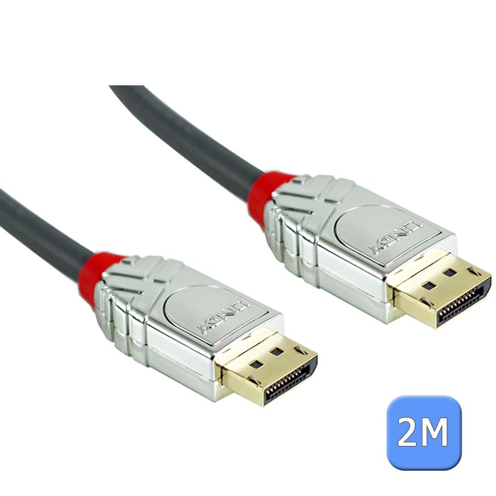LINDY 林帝 CROMO 鉻系列 DP 1.4版 公 to 公 傳輸線 2M 36302