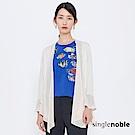 獨身貴族 浪漫國度荷葉拼接雪紡罩衫(1色)