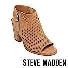 STEVE MADDEN-ABIGAIL魚口踝靴粗跟涼鞋-絨棕