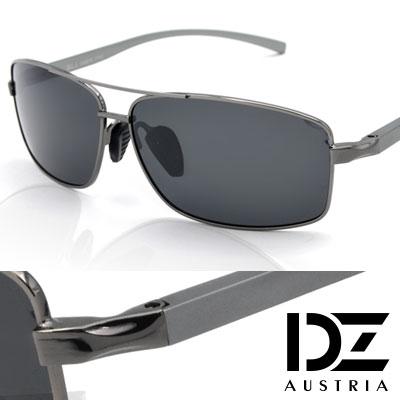 DZ 簡約格調 防曬偏光 太陽眼鏡墨鏡(槍灰框灰片)