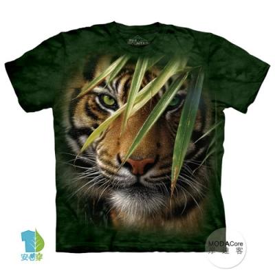 摩達客-預購-美國進口The Mountain 林中之虎 兒童版純棉環保藝術中性短袖T恤