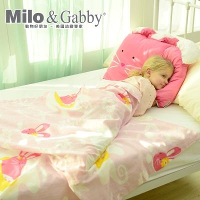Milo&Gabby動物好朋友-超透涼LINEN空氣毯-盛夏海洋限量版(LOLA兔兔)