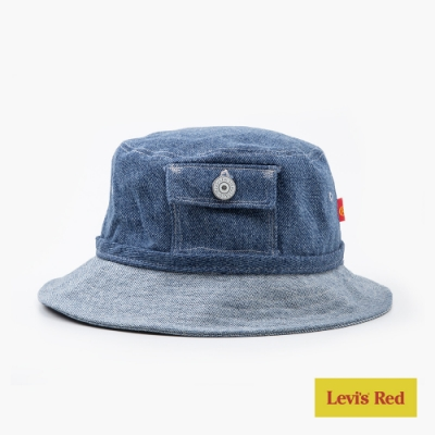 Levis Red 工裝手稿風復刻再造 男女同款 丹寧漁夫帽 經典復刻零錢包設計 簡約手稿縫線
