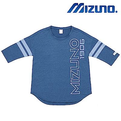 MIZUNO 美津濃 1906 女7分袖T恤 藍 D2TA820215