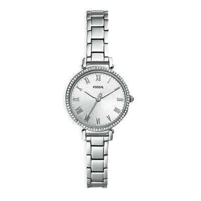 FOSSIL  閃耀羅馬晶緻珠圈腕錶-銀-ES4448/28mm