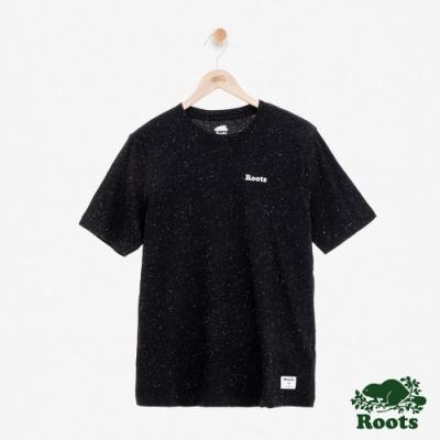 男裝Roots-  結粒紗短袖T恤-黑